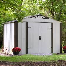 arrow galvanized steel storage shed 10x8 our gallery oakbrook steel shed steel sheds on auction platforms