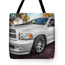 100 Dodge Viper Truck 2004 Ram Srt 10 Painted Tote Bag For Sale By Rich