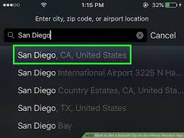How to Set a Default City for the iPhone Weather App 6 Steps