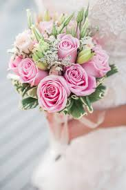 Bridal Bouquet With Light Pink Roses