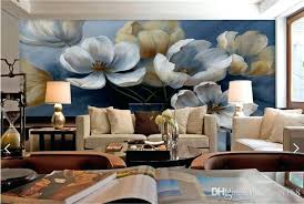 3d Wall Painting For Your Bedroom Retro Poppy Flower Wallpaper Photo Mural Background