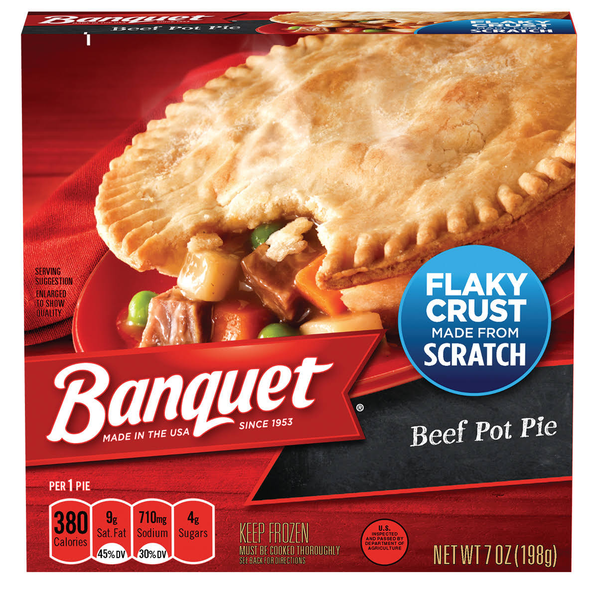 Banquet Pot Pie - Beef, 7oz