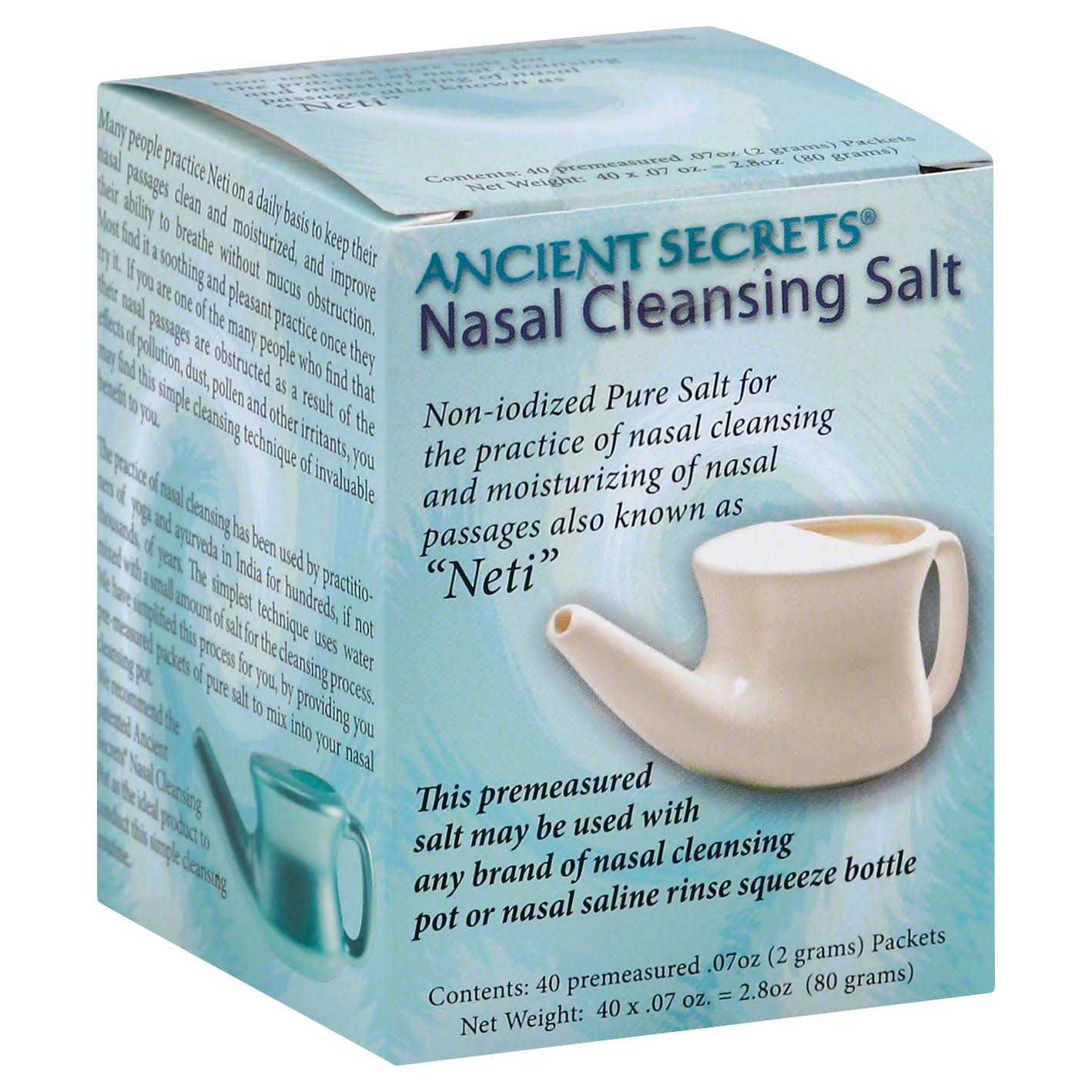 Ancient Secrets Nasal Cleansing Salt - 40 pack, 0.07 oz packets