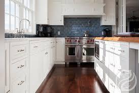 blue kitchen subway tiles transitional kitchen