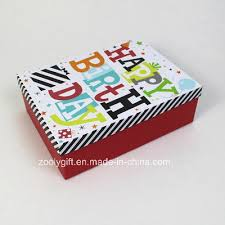 Customize Design Printing Happy Birthday Paper Gift Box