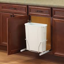 Under Cabinet Trash Can With Lid by Kitchen Cabinet Waste Containers