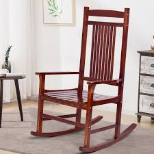 Costway: Costway Solid Wood Porch Rocking Chair Rocker Indoor Outdoor Patio  Backyard Furniture | Rakuten.com