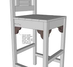 Wood Captains Chair Plans by Ana White Vintage Bar Stool Diy Projects