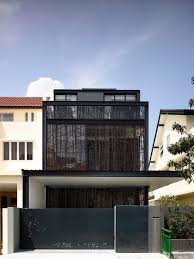 100 Semi Detached House Designs Tour Bold Black Design For This Semidetached House In