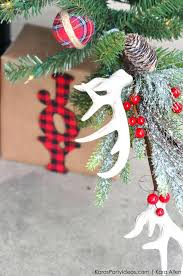 Antler Christmas Tree Ornaments Deer Rustic Plaid Farm House Cabin By Spartyideas Decorations