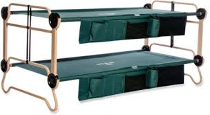 disc o bed cam o bunk cots with organizers x large rei com