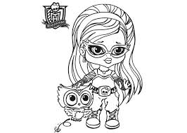 Baby Monster High Coloring Pages Ghoulia Yelps
