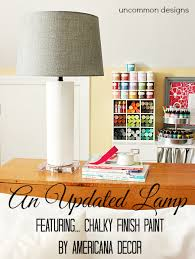 A Lamp Update Chalky Finish Paint by Americana Decor Un mon