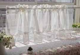 de halbe gardinen leichtes gewicht sheer einfach zu
