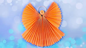 Origami Angel 3d Paper Craft Tutorial Diy How To Make Angels For Christmas Crafts Ideas Homemade