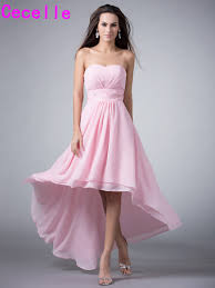high quality wholesale front short and long back pink dresses from