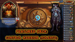hearthstone featured deck control warrior aka pay to win or