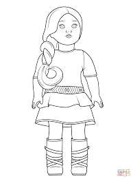 Picture American Girl Doll Coloring