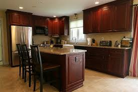 Stunning Cherry Kitchen Cabinets Alluring Home Design Plans With