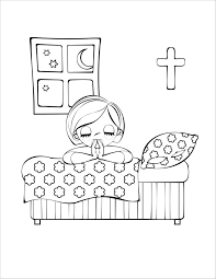 Children Praying Coloring Page Obey Clipart Prayer Pencil And In Color