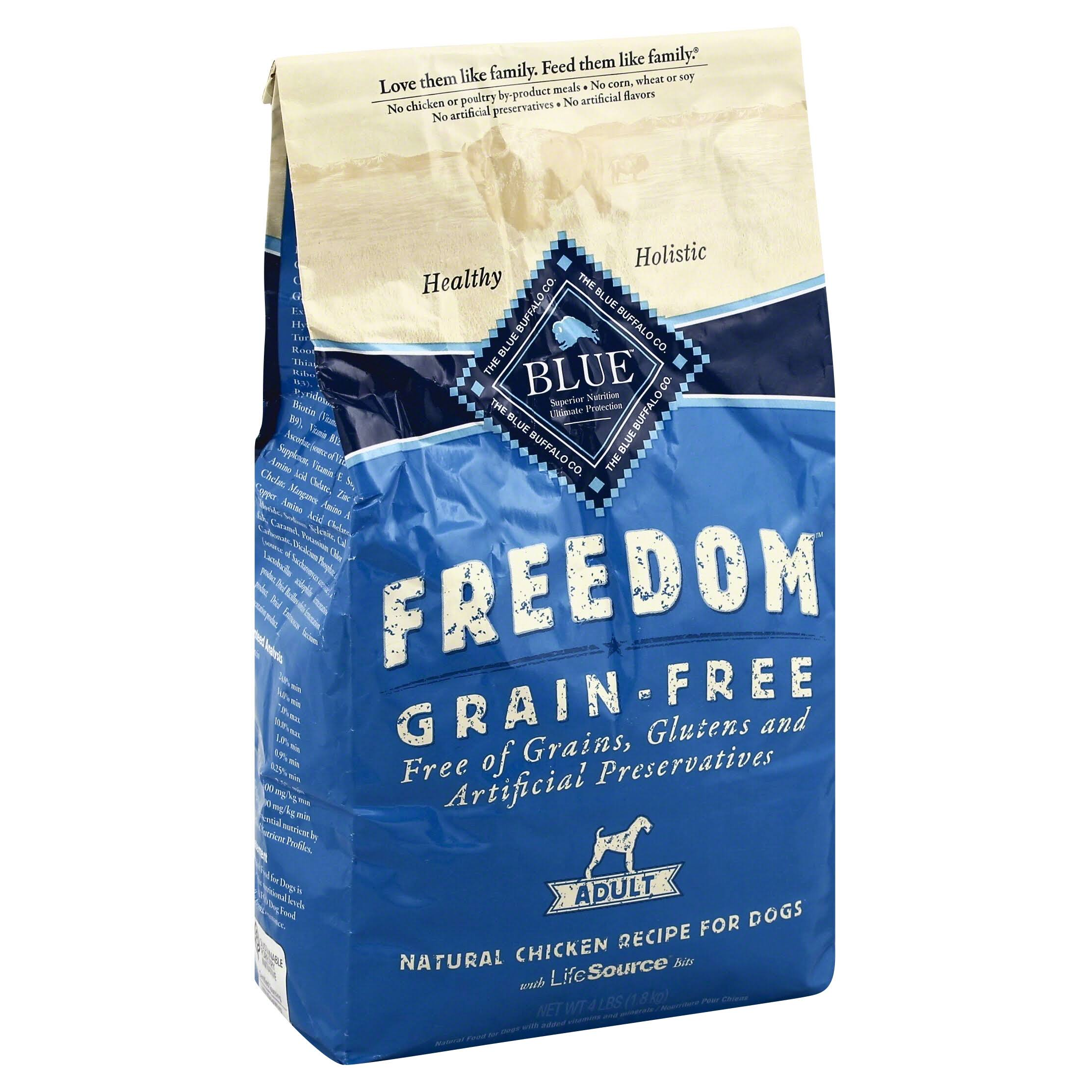 Blue Buffalo Company Freedom Grain-Free Dog Food - Chicken Recipe