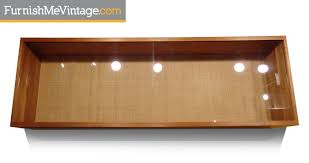 Mid Century Modern Wall Mounting Display Cabinet