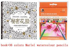 Secret Garden Coloring Watercolor Pencil Jardim Secreto Book Books For Adults