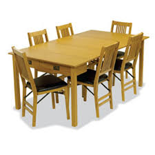 Stakmore Folding Chairs Amazon by Amazon Com Mission Style Expanding Dining Table In Warm