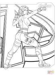 Click The Avengers Black Widow Coloring Pages