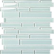 tile various sized glass tile mosaic gsd800 1 white glossy