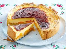 sahniger puddingkuchen mit aprikosen