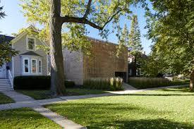 100 Studio Dwell Chicago Thayer Brick House Is Hidden Behind A Brick Screen Dr Wong