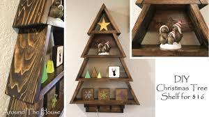 DIY Christmas Tree Wall Shelf