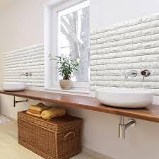 A06501 Peel Stick 3D Wall Panels Foam Block Brick Design 10 Sheets 484 Sq