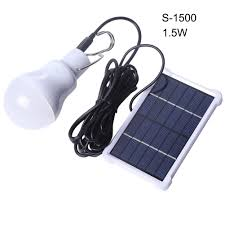 portable solar light bulb led rechargeable hanging l home