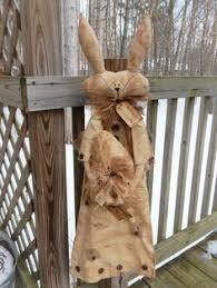 Primitive Easter Tree Decorations by Folk Art Primitive Spring Grungy Easter Egg Pillow Door Hanger
