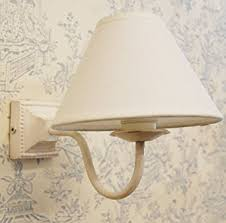 Coolie Lamp Shade Amazon by Small Paris Metal Square Wall Light With Cotton Coolie Light Shade
