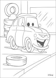 Fashionable Design Ideas Disney Car Coloring Pages McQueen Cars In The Garage Page DISNEY