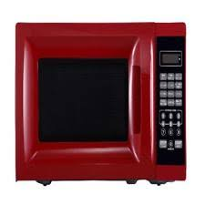 Countertop Microwave Oven With Removable Rotating Glass Turntable Red