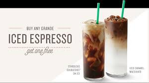 Summer Afternoons Are More Refreshing With A Free StarbucksR Iced Espresso Buy Any Grande Beverage Like An Caramel Macchiato Or Bold
