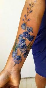 Watercolor Flower Forearm Tattoo Ideas For Women