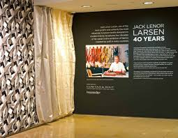 Theater Curtain Fabric Crossword by Jack Lenor Larsen Retrospective At The New York Of Interior