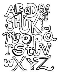 Alphabet Coloring Pages Printable Abc Letters