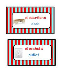 Dual Language Labels With Pictures And Spanish Articles 19