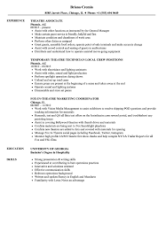 Download Theatre Resume Sample As Image File