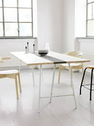 Drafting Table Ikea Canada by Diy Dining Table Ikea Lerberg Trestle Other Pinterest Diy