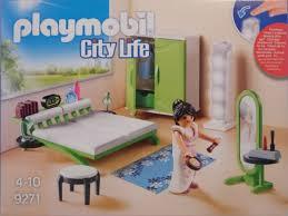 playmobil 9271 schlafzimmer bett schrank hocker kleider spiegel licht säule neu