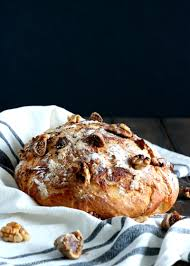 Rustic Fig Walnut No Knead Bread Dels Cooking Twist