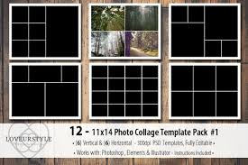 11x14 Photo Collage Template Pack 1 Templates Creative Market
