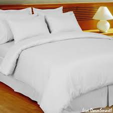 Twin Xl Dorm Bedding by White Stripe Twin Xl Duvet Cover Set 100 Cotton 300 Thread Count